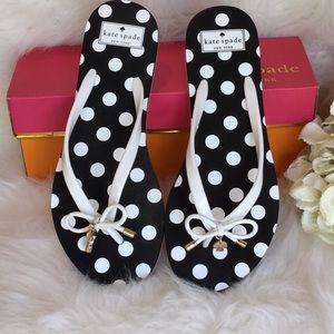 42f15c88ee30 kate spade Shoes - Kate Spade Nova Polka Dot Print Flip Flops NWT